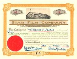 Star Film Company 1917 ( RARE Early Studio Photo Vignette )