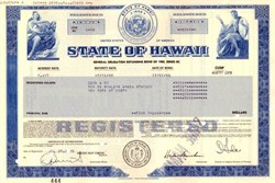State of Hawaii  - General Obligation Refunding Bond of 1985 / Airport System 1984