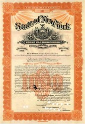 State of New York World War l Bonus Bond 1924