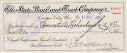 State Bank and Trust Company - Carson City, Nevada 1903