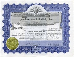 Stockton Baseball Club, Inc. - California 1946