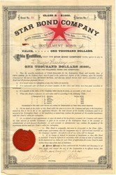 Star Bond Company (Installment Bond)  - 1890