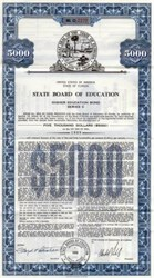 State Board of Education Bond - Florida 1960s-70s