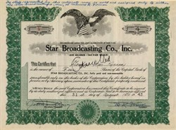 Star Broadcasting Co., Inc. (Signed by Maurice Forman )- New York 1945