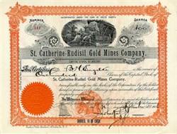 St. Catherine - Rudisil Gold Mines Company - North Carolina 1906