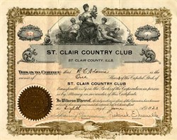 St. Clair Country Club - Illinois 1923