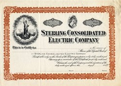 Sterling Consolidated Electric Company - Pennsylvania 1907