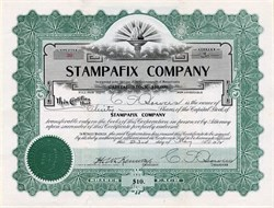 Stampafix Company (Early Postage Stamp Machine ) - Boston, Massachussetts 1912