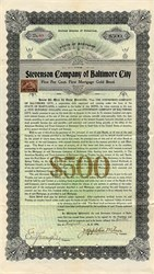 Stevenson Company of Baltimore City signed by John Appleton Wilson  - Maryland 1898