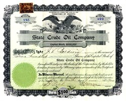 State Crude Oil Company - Los Angeles, California - 1900