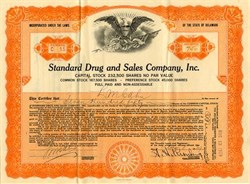 Standard Drug and Sales Company, Inc. - Delaware 1929