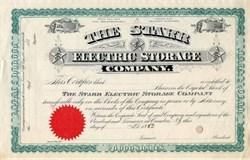 Starr Electric Storage Company - New Jersey 1882