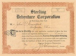 Sterling Debenture Corporation (indictment found by the Federal Grand Jury for using the mails to defraud ) - 1907