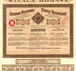Steaua Romana Etoile Roumaine - Romanian Oil Company 1926