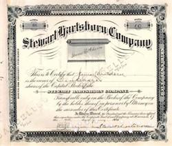 Stewart Hartshorn Company 1915 signed by Window Shade Inventor, Stewart Hartshorn