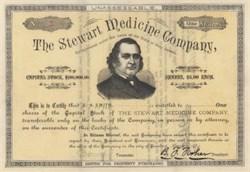 Stewart Medicine Company - Camden, New Jersey 1884