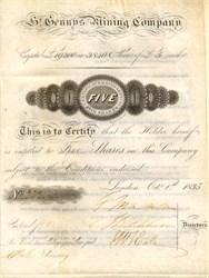 St. Gennys Mining Company - London, England 1835