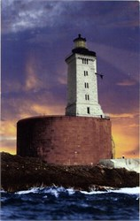 St. George Reef Lighthouse Postcard - California