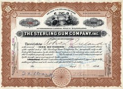 Sterling Gum Company - New York 1916
