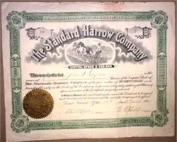 Standard Harrow Company - New Jersey 1901