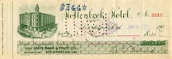 Hollenbeck Hotel signed by Albert Clay Bilicke (Lost on Lusitania)  - Los Angeles,  California 1904