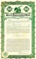 Street Improvement Bond 1921 - Berkeley, California