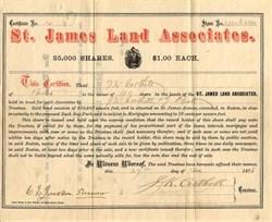 St. James Land Associates - Boston, Massachusetts 1876