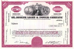 St. Joseph Light & Power Company ( Now Aquila )