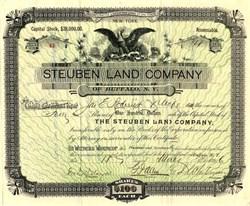 Steuben Land Company - Buffalo, New York 1896