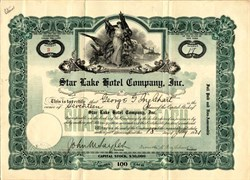 Star Lake Hotel Company - New York 1921