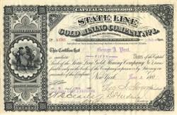 State Line Gold Mining Company No. 1 - Esmeralda County, Nevada 1881