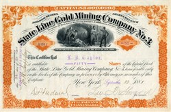 State Line Gold Mining Company No.3 - Gold Mountain District, Esmeralda County, Nevada 1881