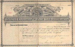 St. Louis Exposition and Music Hall Association - 1884