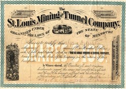 St. Louis Mining and Tunnel Company - Gilpin County - Colorado Territory 1872