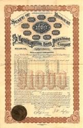 St. Louis Mutual Bond Investment Company - Missouri 1893