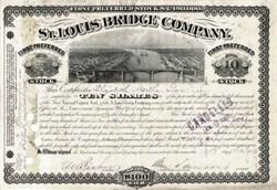 St. Louis Bridge Company 1891 - Eads Bridge Vignette