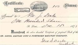 St. Louis, Kansas City & Northern Railroad Company 1873