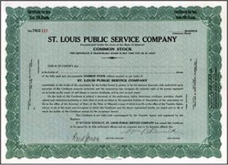 St. Louis Public Service Company ( Early Bus Transportation ) 1928 - Missouri