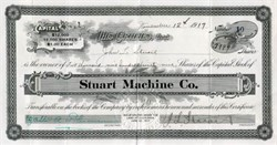 Stuart Machine Company - California 1917