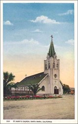 St. Mary's Church, Santa Maria, California Postcard