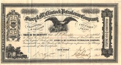 Story & McClintock Petroleum Company - Venango County, Pennsylvania  - New York 1864