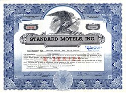 Standard Motels, Inc. (Owned the Hacienda Hotel in Las Vegas) - California   1956