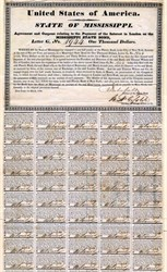 State of Mississippi Agreement of Coupons ( State Default Bond ) - 1833