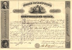 State of New York Comptroller's Office - New York 1867