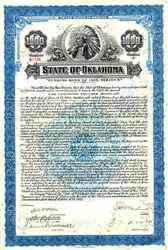State of Oklahoma Funding Bond signed by Governor Marland - 1935