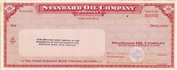 Standard Oil Company of  Indiana Specimen Check