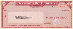 Standard Oil Company of  Indiana Specimen Check