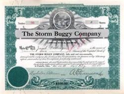 Storm Buggy Company 1915 - Fostoria, Ohio