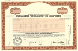 Standard-Bred Pacers and Trotters Incorporated - New York