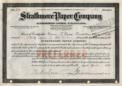 Strathmore Paper Company signed by Horace Moses (Junior Achievement Founder) - Massachusetts 1937